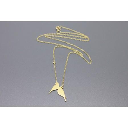 COLAR H STERN LOVE BIRDS EM OURO AMARELO 18K COM DIAMANTE